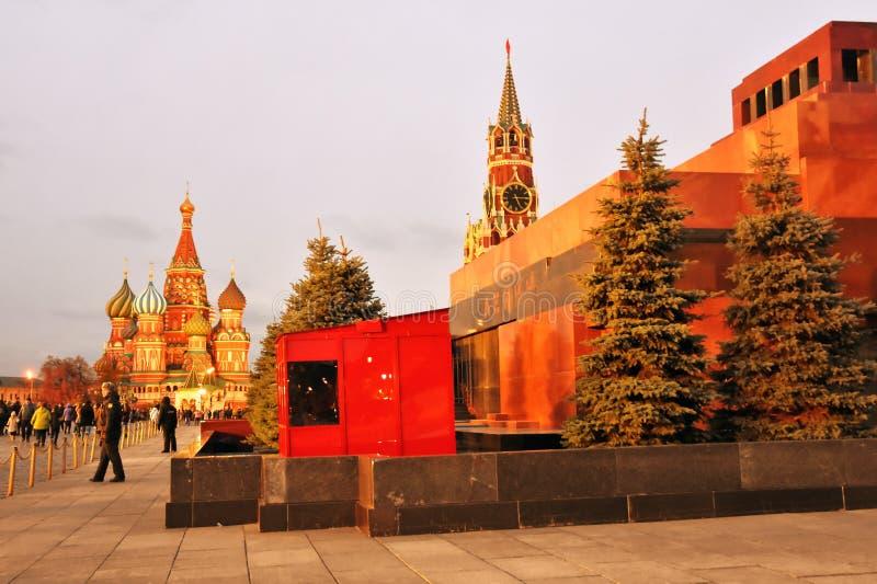莫斯科克里姆林宫在晚上  免版税图库摄影