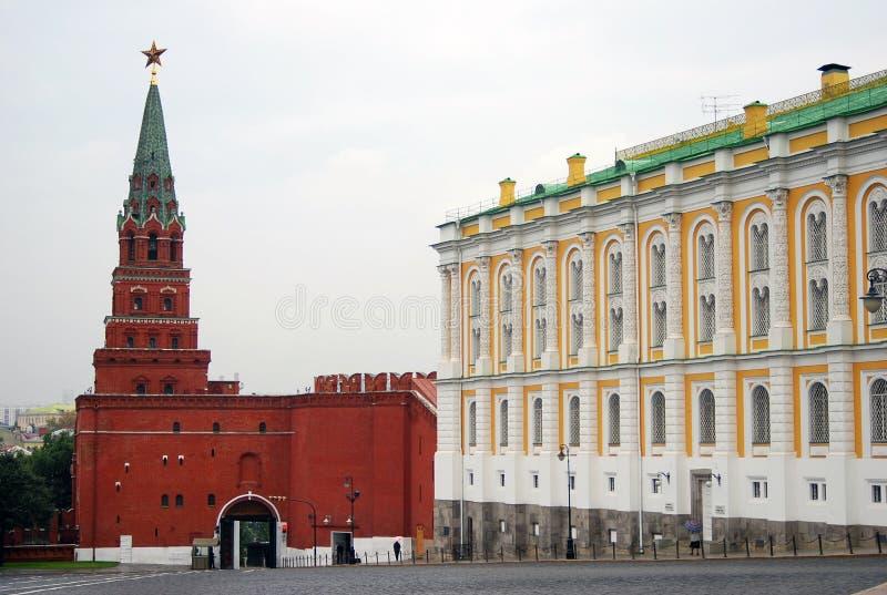 莫斯科克里姆林宫塔。 科教文组织世界遗产站点。 免版税库存照片