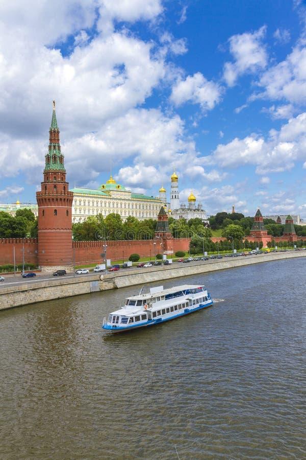 莫斯科克里姆林宫的堤防 库存照片
