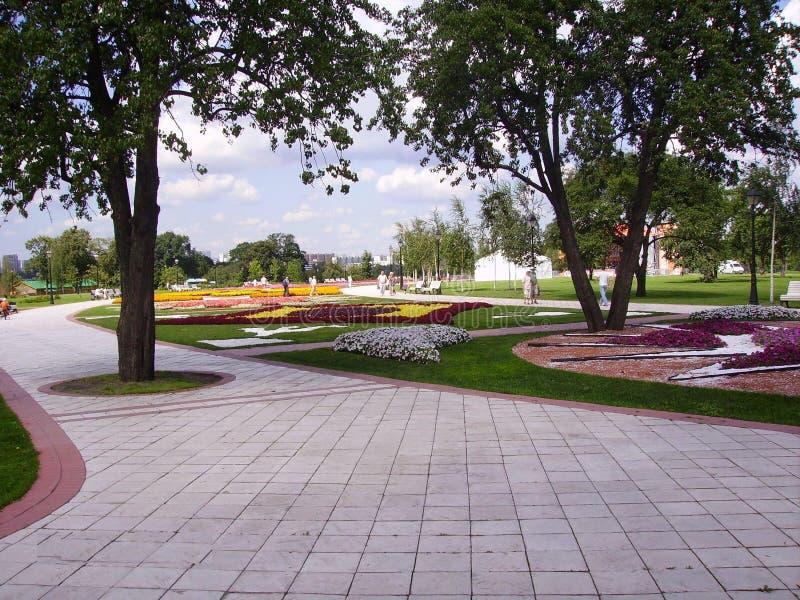 莫斯科公园在夏天 清洗,称心和离自然较近 免版税图库摄影