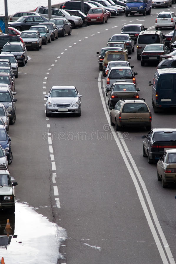 莫斯科公路交通 免版税库存照片