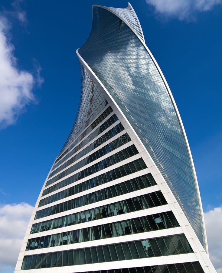 莫斯科商业中心的摩天大楼 免版税库存图片