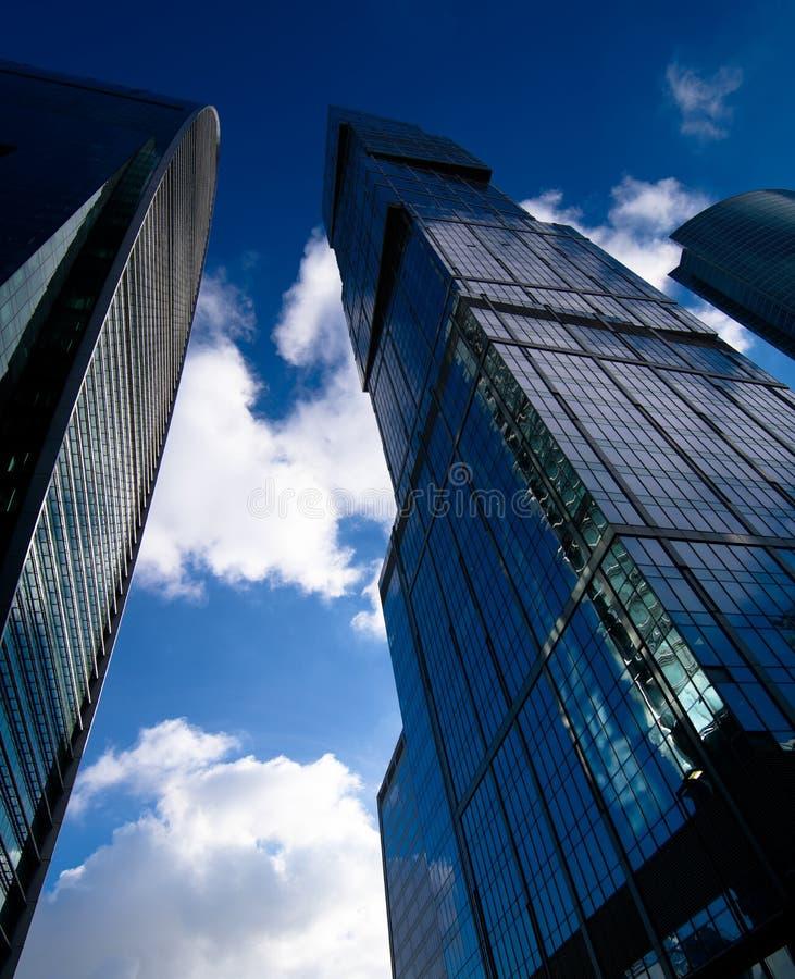 莫斯科商业中心的摩天大楼 库存照片