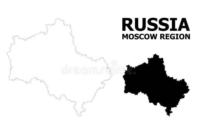 莫斯科地区传染媒介等高被加点的地图与说明的 皇族释放例证