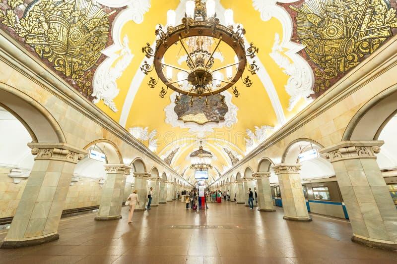 莫斯科地铁 库存照片