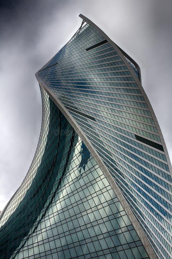 莫斯科城市 塔演变 商业中心在俄罗斯 举办的财务往来 莫斯科俄国 免版税库存照片