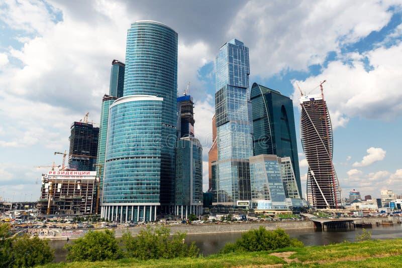莫斯科城市(莫斯科国际商业中心),俄罗斯 免版税库存图片