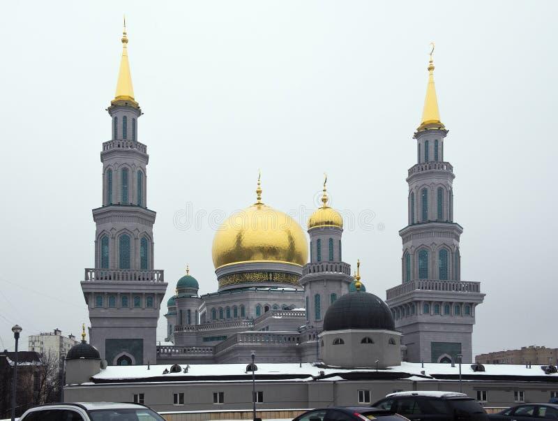 莫斯科大教堂清真寺从2007-2015改造 免版税库存图片
