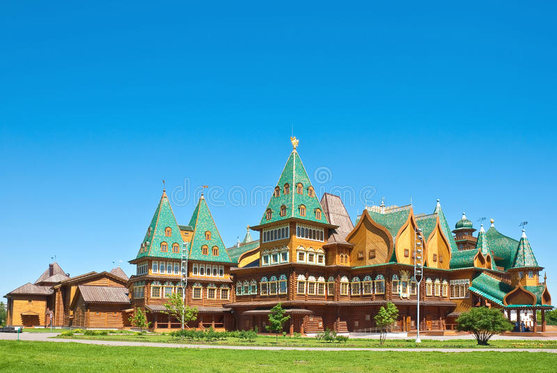 莫斯科宫殿木的俄国 免版税库存图片
