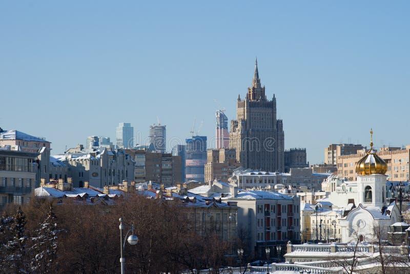 莫斯科屋顶和地平线 免版税库存照片