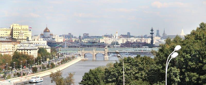 莫斯科市俯视图  图库摄影