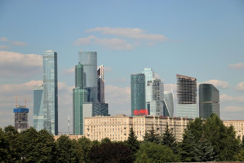 莫斯科市地平线 图库摄影