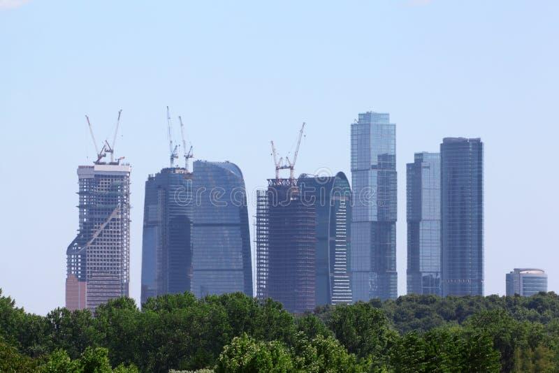 莫斯科市复杂摩天大楼  免版税图库摄影
