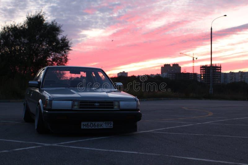 莫斯科市汽车 库存照片