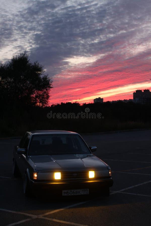 莫斯科市汽车 免版税库存照片