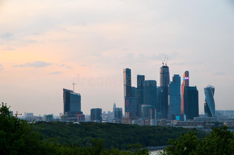 莫斯科市的看法 免版税图库摄影