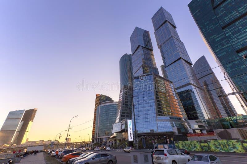 莫斯科市的莫斯科,俄罗斯- 2018 4月14日的视图 免版税库存图片