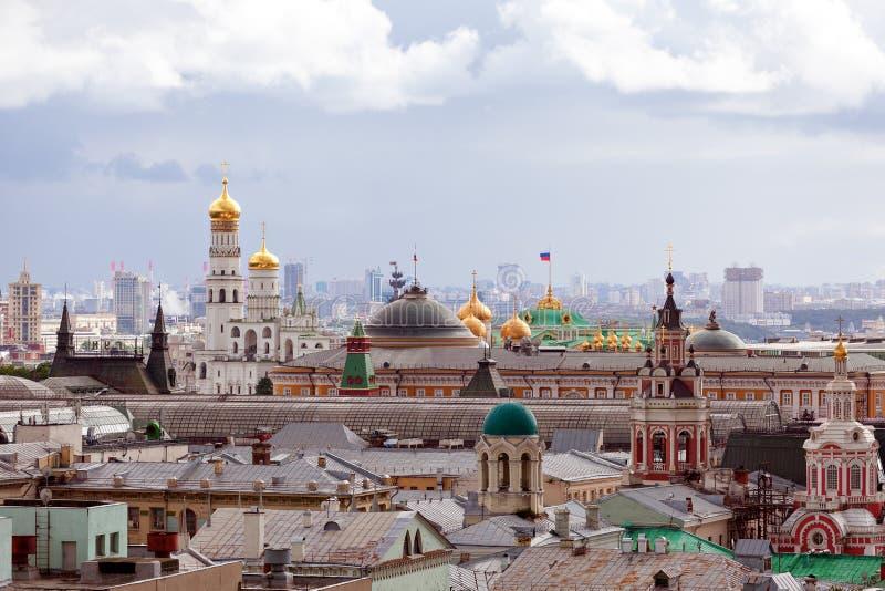 莫斯科市雨天 库存图片