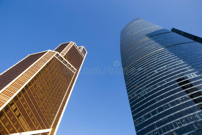 莫斯科市-摩天大楼莫斯科国际商业中心看法  免版税库存图片
