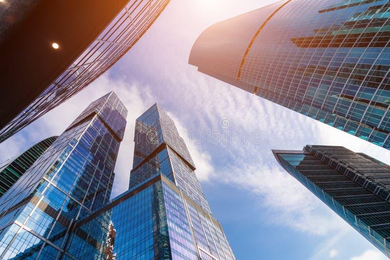 莫斯科市-摩天大楼莫斯科国际商业中心看法  图库摄影