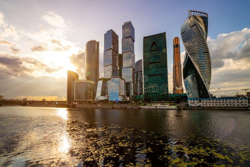 莫斯科市-摩天大楼莫斯科国际商务中心看法  库存图片
