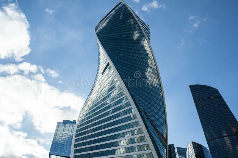 莫斯科摩天大楼莫斯科国际商业中心市视图  库存照片