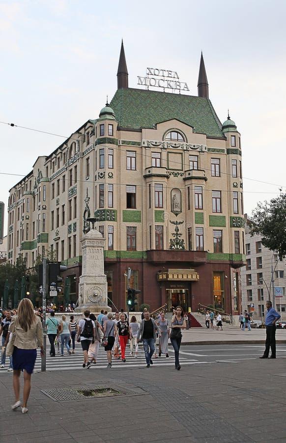 莫斯科旅馆在贝尔格莱德 塞尔维亚 库存照片