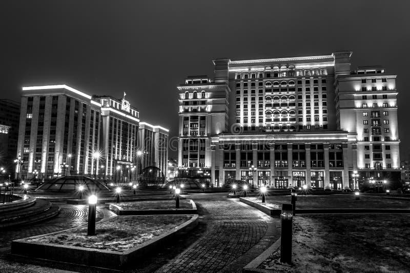 莫斯科早期的冬天早晨 免版税库存照片