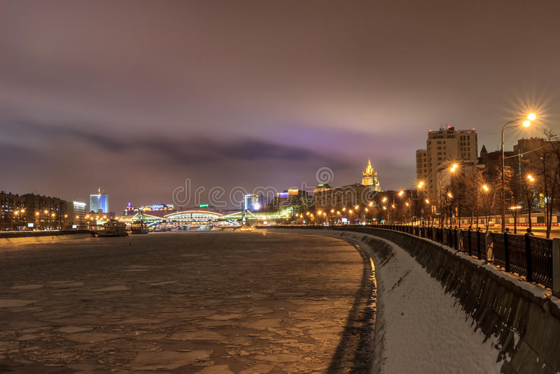 莫斯科早期的冬天早晨 库存照片