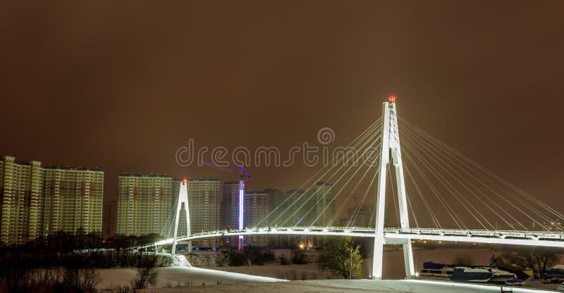 莫斯科早期的冬天早晨 图库摄影