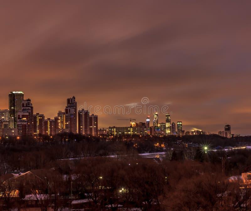 莫斯科早期的冬天早晨 免版税库存图片
