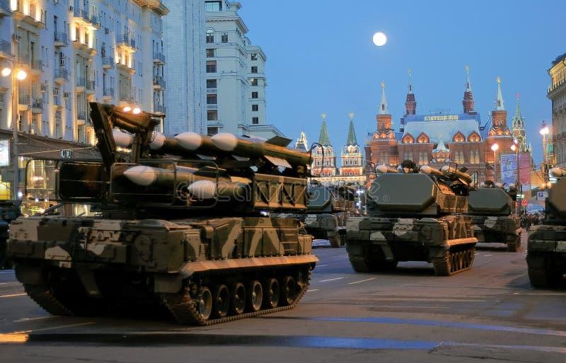 莫斯科游行排练胜利 图库摄影