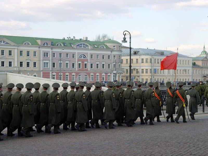 莫斯科游行 免版税库存图片