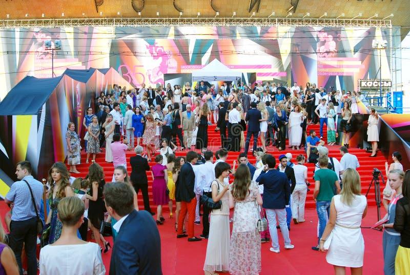 莫斯科电影节的客人 库存图片