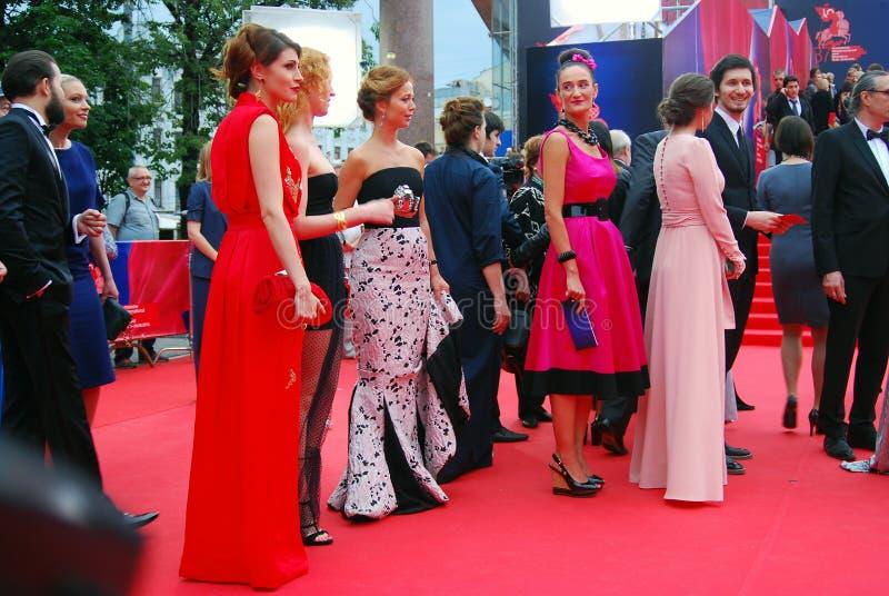 莫斯科电影节的客人 库存照片