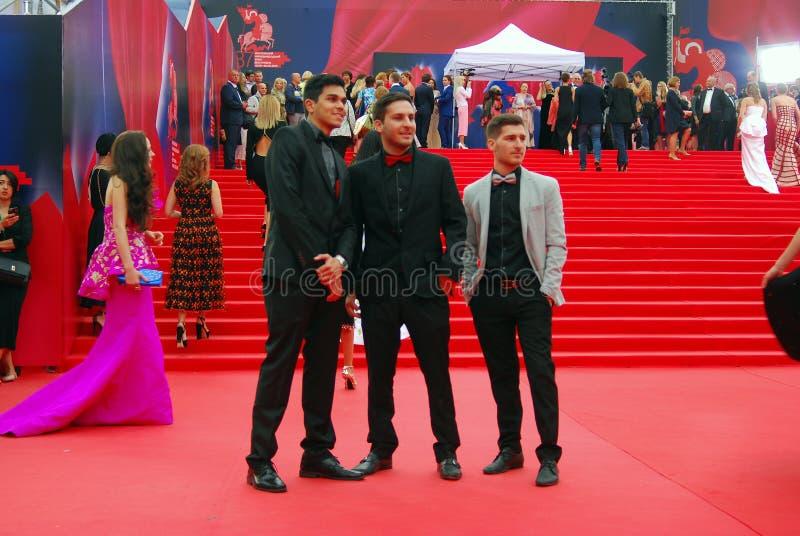莫斯科电影节的客人 免版税库存图片