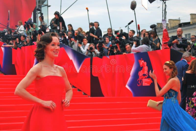 莫斯科电影节的Daria莫罗兹 库存图片