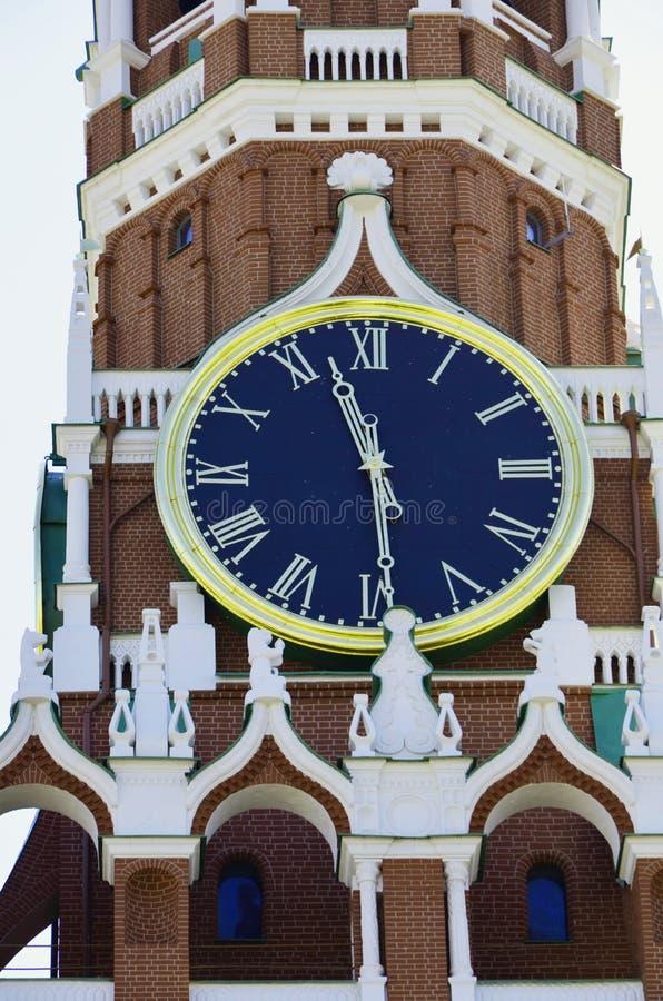 莫斯科的编钟这主要吸引力和Spasskaya耸立 免版税库存照片