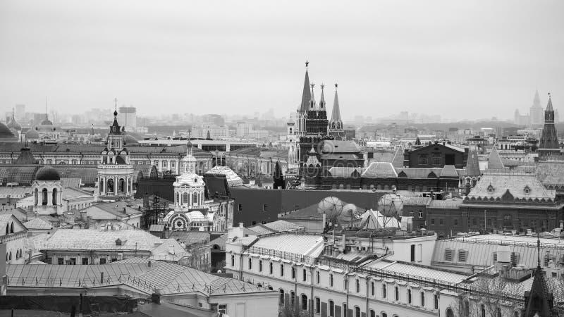 莫斯科看法从中央孩子的一个观看的平台的购物 免版税图库摄影