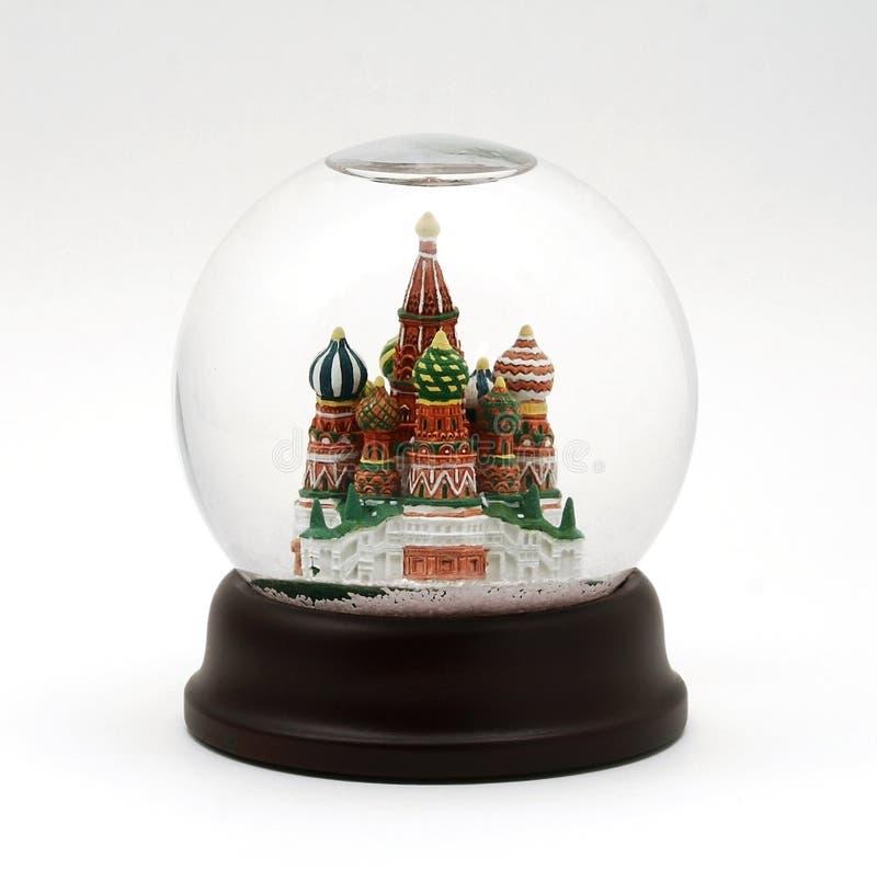 莫斯科雪地球 库存图片