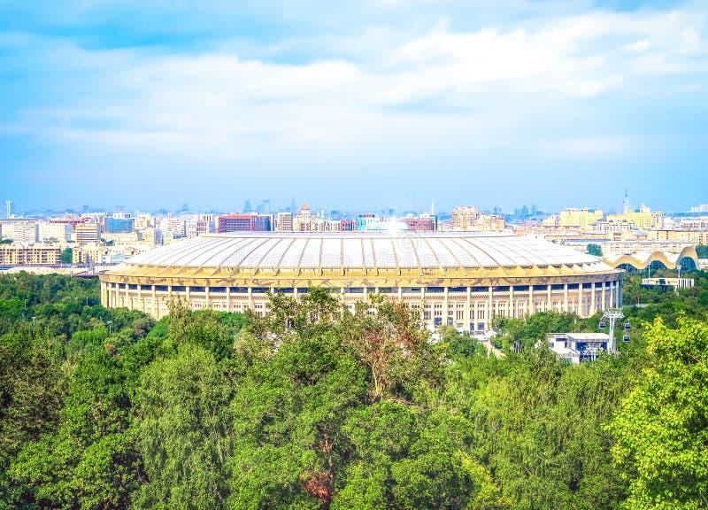 莫斯科,俄罗斯–2018年7月25日:Luzhniki奥林匹克复杂Stadi 免版税库存照片