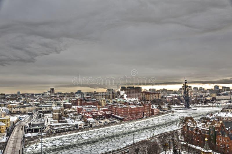 莫斯科,俄罗斯城市视图  免版税库存图片