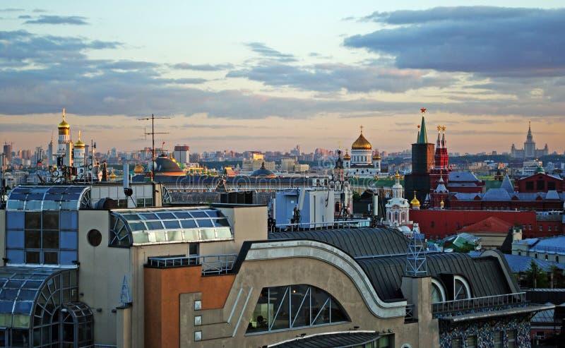 莫斯科,俄罗斯鸟眼睛视图  库存照片