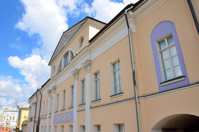 莫斯科,俄罗斯, 2017年6月, 12日 建筑学细节贡恰罗夫都市庄园- Filippov,开始XVIII世纪, 图库摄影