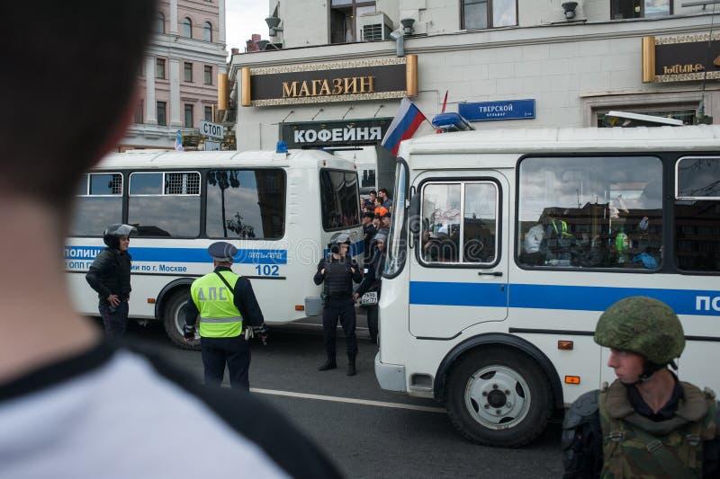 莫斯科,俄罗斯, 2017年- 6月12日 Tverskaya街 免版税库存照片