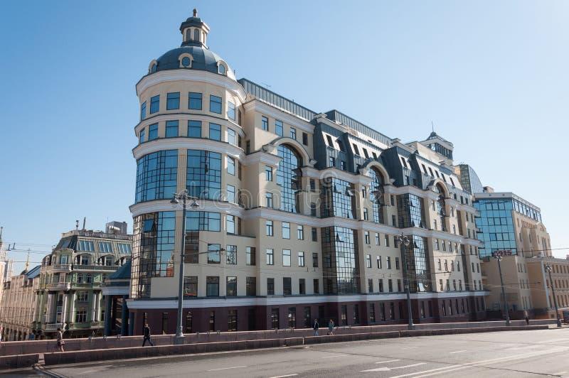 莫斯科,俄罗斯- 09 21 2015年 俄罗斯联邦的央行的莫斯科主要领土部门 免版税图库摄影