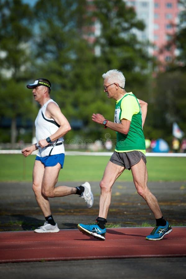 莫斯科,俄罗斯- 2017年5月13日:俄国athlets在tou跑 免版税库存照片
