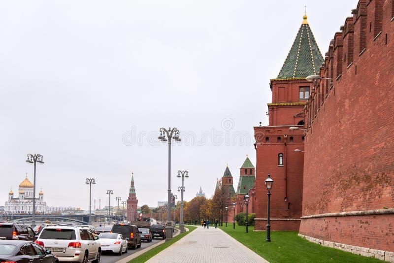 莫斯科,俄罗斯- 2016年10月06日:克里姆林宫,俄罗斯的塔看法  免版税库存照片