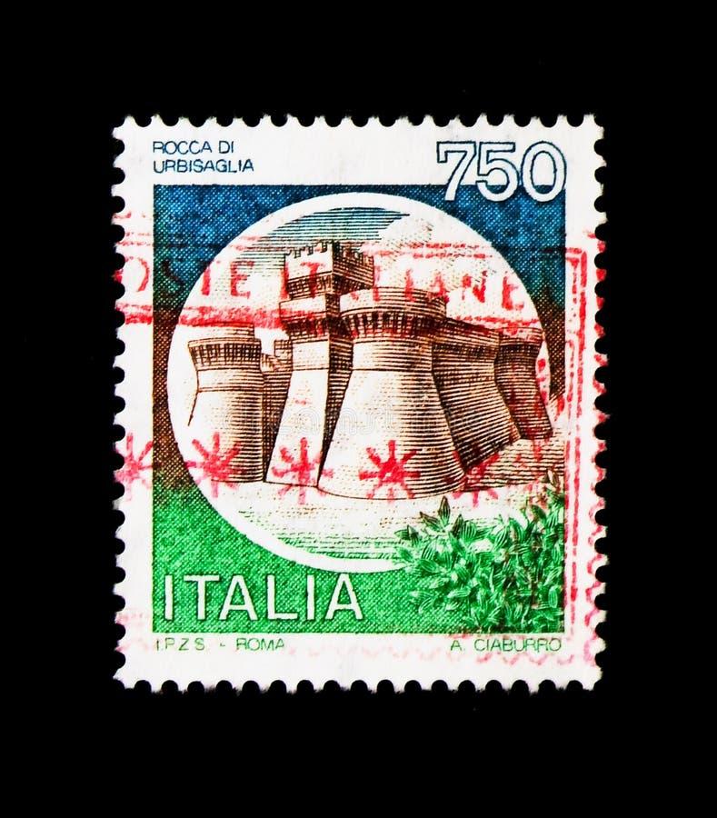 莫斯科,俄罗斯- 2017年11月24日:在意大利sho打印的邮票 免版税库存图片