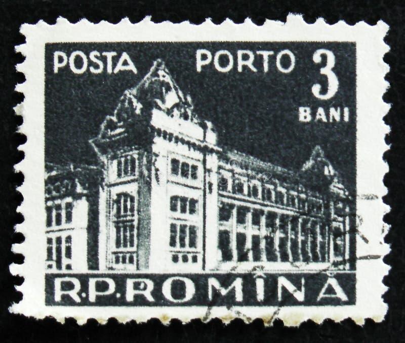 莫斯科,俄罗斯- 2017年4月2日:在罗马尼亚打印的岗位邮票 图库摄影